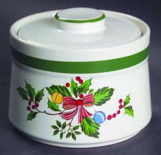 International Noel (Band 1/8From Edge) Sugar Bowl & Lid, Fine China Dinnerware
