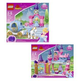 LEGO DUPLO Cinderellas Carriage and Cinderellas Castle Bundle