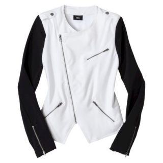 Mossimo Petites Moto Jacket   White/Black LP
