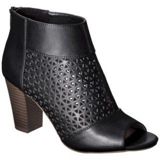 Womens Mossimo Marie Perforated Peep Toe Heel   Black 10