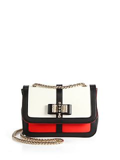Christian Louboutin Sweet Charity Tricolor Small Shoulder Bag   White