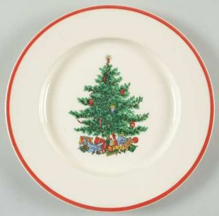 Taylor, Smith & T (TS&T) Holly & Spruce (Orange Trim) Salad Plate, Fine China Di