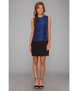 Rebecca Taylor S/L Python Shift Womens Dress (Blue)