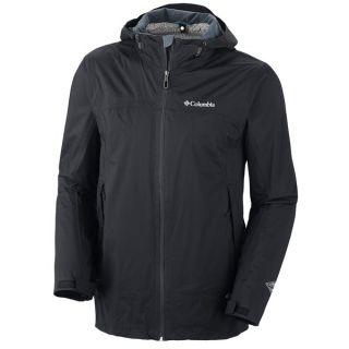 Columbia Sportswear Tracer Racer Omni Tech(R) Jacket   Waterproof  Omni Wick(R) EVAP (For Men)   BLACK (L )