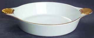 Georges Briard Coquille DOr Gold Individual Augratin, Fine China Dinnerware   G