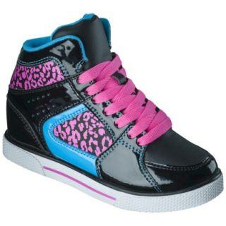 Girls Xhilaration Greta High Top Sneaker Wedge   Black 3
