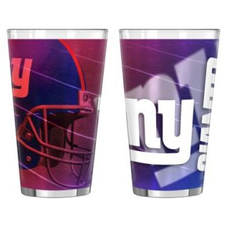Boelter Brands NFL 2 Pack New York Giants Shadow Style Pint Glass   Multicolor