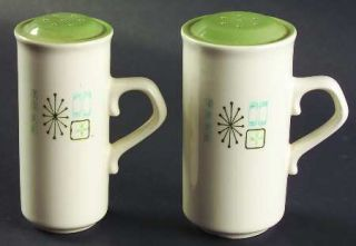 Taylor, Smith & T (TS&T) Cathay Salt & Pepper Set, Fine China Dinnerware   Green