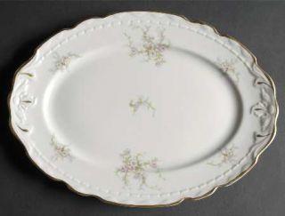 Royal Jackson Sandra (Gold Trim) 12 Oval Serving Platter, Fine China Dinnerware