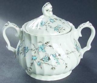 Myott Staffordshire Sound Of Music Sugar Bowl & Lid, Fine China Dinnerware   Aqu