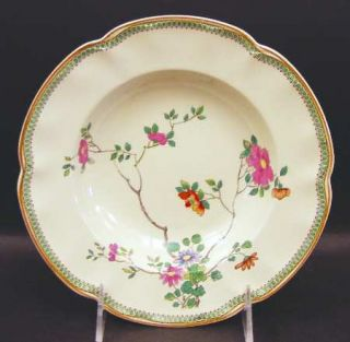 Johnson Brothers Princess Mary Rim Soup Bowl, Fine China Dinnerware   Pareek, Pi