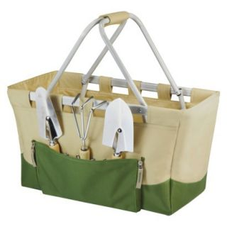 Picnic Time Garden Metro Basket  Tan/ Olive with 3 Pc Tools