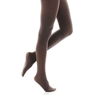 Solid Control Top Opaque Tights, Charcoal, Womens