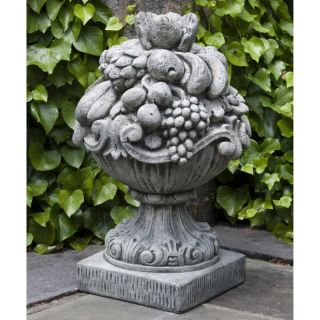 Campania International Italian Fruit Basket Cast Stone Garden Statue   S 335 AL