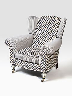 MacKenzie Childs Underpinnings Classic Wing Chair   No Color