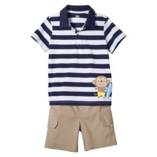 Just One YouMade by Carters Newborn Infant Boys 2 Piece Set   Blue/Khaki 12 M