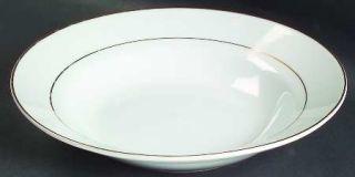 Signature Golden Traditions (1/16 Trim) Rim Soup Bowl, Fine China Dinnerware   A