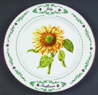 Domestications Flowers Of The Month Salad Plate, Fine China Dinnerware   Various