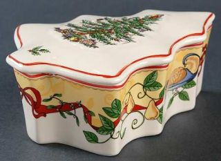 Spode Christmas Tree Green Trim 2012 Annual Tree Box & Lid, Fine China Dinnerwar