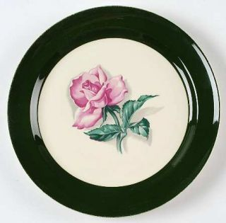 Taylor, Smith & T (TS&T) Tst15 Luncheon Plate, Fine China Dinnerware   Dk Green