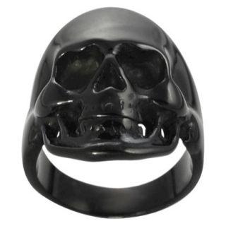 Daxx Mens Black Stainless Steel Skull Ring   Black 12