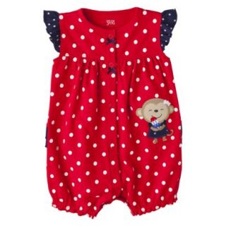 Just One YouMade by Carters Newborn Girls Romper   Liberty Red 9 M