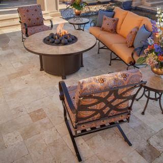 O.W. Lee Marquette Fire Pit Conversation Set Collection   Seats 4 Multicolor