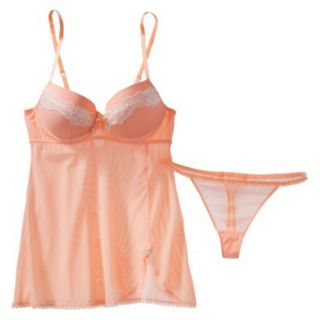 Gilligan & OMalley Womens Soft Cup Babydoll Set   Coral S