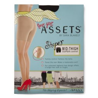 ASSETS by Sara Blakely A Spanx Brand Womens Mid Thigh Shaper 870B   Black 1