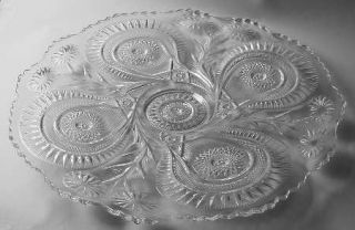 Smith Glass  Pinwheel & Stars 22 Torte Plate   Pressed, Punch Items Only