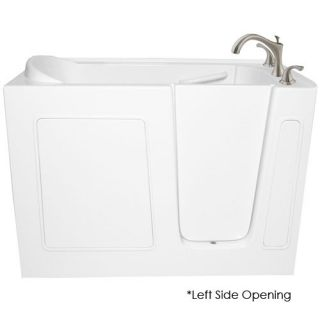 Ariel EZWT3048 Air L Bath Series Walk In Bathtub 48 x 29 x 38 ADA Compliant Left Side Opening