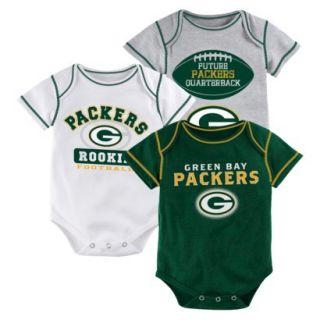 NFL Boys 3 Pack Onesie Packers 0 3 M