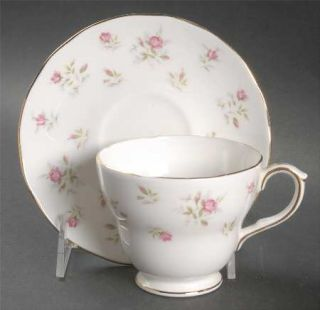Duchess Marie Footed Cup & Saucer Set, Fine China Dinnerware   Sprays Of Roses