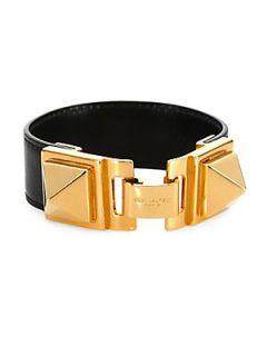 Saint Laurent Signature Studded Leather Bracelet