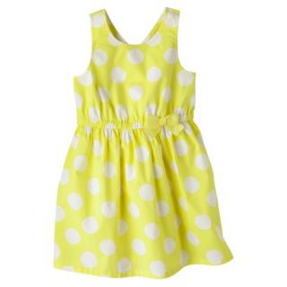 Cherokee Infant Toddler Girls Polkadot Cross Back Sundress   Yellow 12 M
