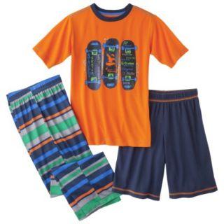 Cherokee Boys 2 Piece Short Sleeve Skateboard Pajama Set   Orange XL