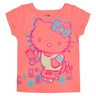 Hello Kitty Infant Toddler Girls Short Sleeve Tee   Apricot Orange 12 M