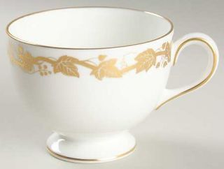 Wedgwood Whitehall White Rim Footed Cup, Fine China Dinnerware   White Rim & Cen