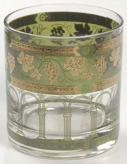 Cera Glass Golden Grapes Green Old Fashioned   Gold Grapes On Green Band