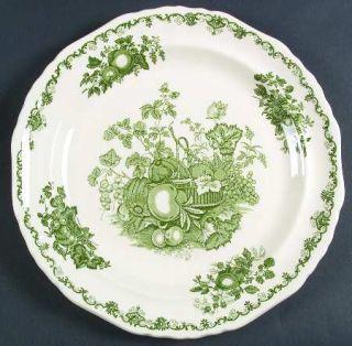 Masons Fruit Basket Green 12 Chop Plate/Round Platter, Fine China Dinnerware