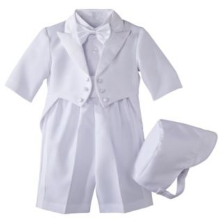 Infant Boys Authentic Tux with Tails   White 6 9 M