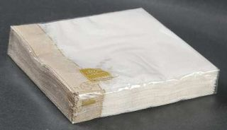 Lenox China Bellina Gold Trim Paper Cocktail Napkin Package, Fine China Dinnerwa