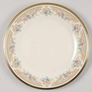 Lenox China Versailles Salad Plate, Fine China Dinnerware   Tan/Gray Geometric&