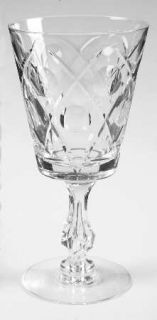 Tiffin Franciscan 17623 5 Water Goblet   Stem #17623, Cut Criss Cross & Dots