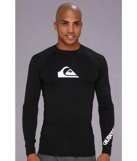 Quiksilver All Time L/S Surf Shirt AQYWR00035 Mens Swimwear (Black)