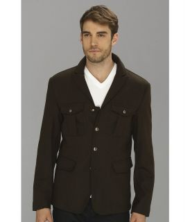 John Varvatos 4 Button Peak Lapel Jacket Mens Coat (Green)