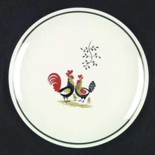 Steubenville Family Affair Dinner Plate, Fine China Dinnerware   Rooster, Hen &
