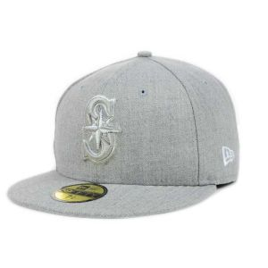 Seattle Mariners New Era MLB Heather Basic 59FIFTY Cap