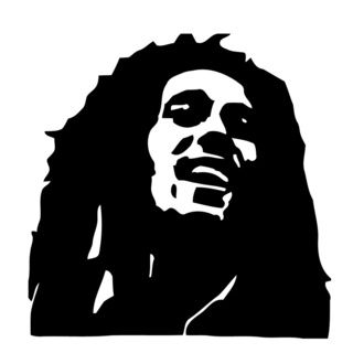 Bob Marley Glossy Black Vinyl Sticker Wall Decal (Glossy blackTheme Bob Marley head silhouette Materials VinylIncludes One (1) wall decalEasy to apply; comes with instructions Dimensions 25 inches wide x 35 inches longAll measurements are approximate.