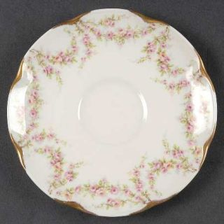 Haviland Varenne (New York) Saucer, Fine China Dinnerware   New York,Pink Flower